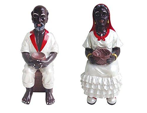 6 Inch Francisco and Francisca Statue San Santo Santa Santeria Yoruba Cuba Estatua Detail Product
