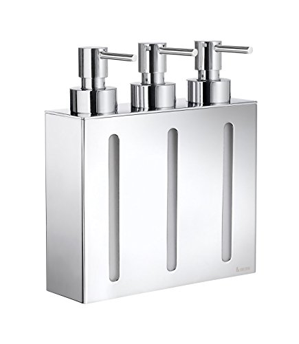 Smedbo SME_FK259 Soap Dispenser Wall mount, Polished Chrome - Smedbo Glass Wall Soap Dispenser