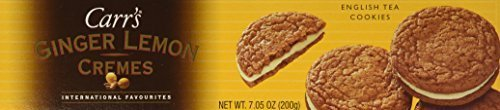 - Carr's English Tea Cookies, Ginger Lemon Cremes, 3-Count, 7.05-Ounce Package