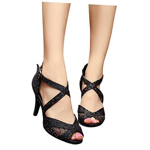 peep talon 3 avec de de toe tango Misu chaussures femmes de latin de de toe salon 3 danse pour en 3 pratique salsa 3 with Dance Shoes Peep un avec Ballroom Sandales du Practice Tango salle un Sandals Latin Salsa Misu Women's 15gwgq