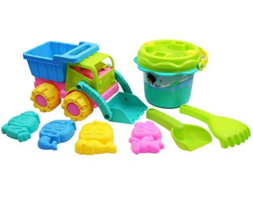Langxun Sand & Water Play Dump Truck Set - Truck Blue Cool