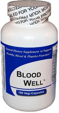 Blood Well (180 Capsules Per Bottle) -NO ''Beef Bovine Capsules'', no Common Fillers no Silica, Magnesium Stearate, Talc or Silicon Dioxide. Kosher/Vegan Capsules* by Get Well Natural, LLC