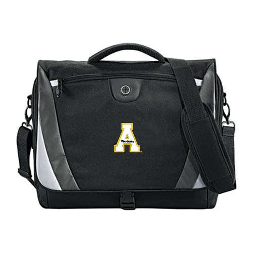 Appalachian State Slope Black//Grey Compu Messenger Bag App State A