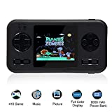 TEEPAO 2.8 Inch Game Handheld Console, Retro Video FC PVP Game Player Gameboy 416 Classic Games, Built-in 8000 mAh Power Bank, Portable Video Game Console with Fast Charger for Travel (Black Edge)