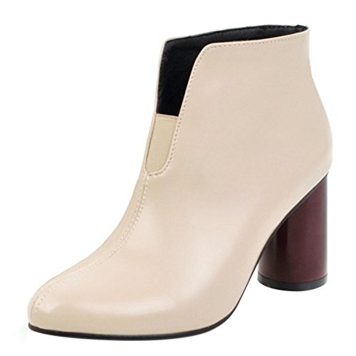 c68aa35f3ab4ff CarziCuzin Women Fashion Chunky High High High Heel Shoes Ankle Boots  Pull-on B076J8SGSB Shoes