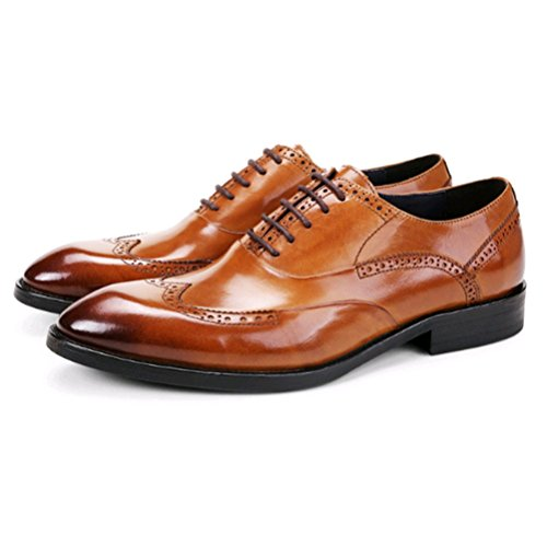 Chaussures Les Hommes des NIUMJ La Chaussures Britanniques Bullock Hommes Brown des Dentelle De des Sculpté A qCqzFnUwA