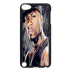 JS-17 Singer 50 Cent Black Print Hard Shell Case for iPod Touch 5th