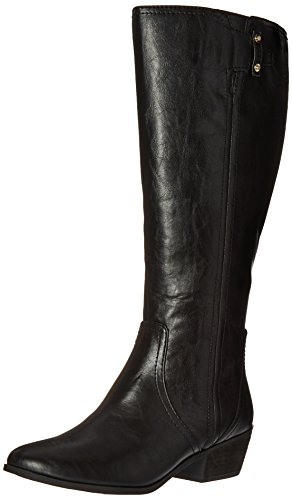 Dr. Scholl's Shoes Women's Brilliance Wide Calf Riding Boot, Black, 9 M US