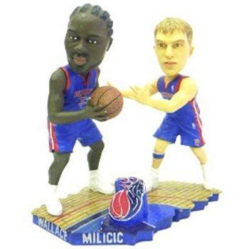 Detroit Pistons Milicic & Wallace Bobble Mates (Quantity of 1)