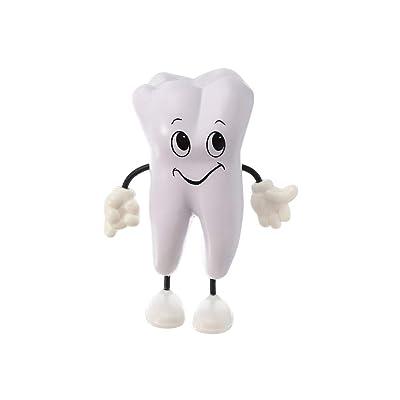YeahiBaby Figura de la Sonrisa de la PU del Juguete del Diente para los Productos promocionales de la clínica Dental de los niños: Juguetes y juegos