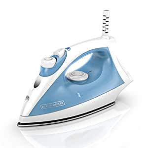 BLACK+DECKER Steam Iron with Pivoting Cord, Nonstick Soleplate, Blue, F210