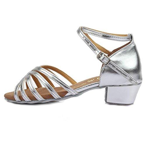 c1243788 Roeua femenino ES7-F59 satín latino la danza el zapato Caliente de la venta