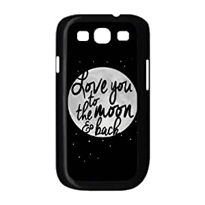 Samsung Galaxy S3 9300 Cell Phone Case Black To The Moon And Back BW FXS_701427