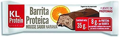 Barritas Proteicas y Energéticas, Sabor Chocolate, Naranja y Toffee, 35g
