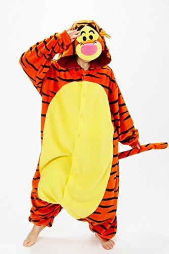 Zorabridal Christmas Carnival Party Costume Adult Unisex Winter Wear Pajamas Onesies (X-Large, Tigger)]()