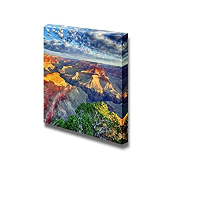Canvas Prints Wall Art - Morning Light at Grand Canyon, Arizona, USA | Modern Wall Decor/Home Decoration Stretched Gallery Canvas Wrap Giclee Print & Ready to Hang - 16