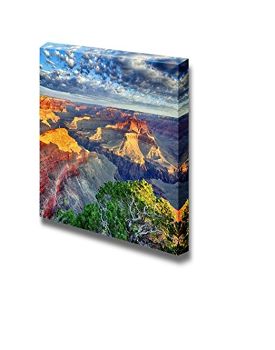 (Canvas Prints Wall Art - Morning Light at Grand Canyon, Arizona, USA | Modern Wall Decor/Home Decoration Stretched Gallery Canvas Wrap Giclee Print & Ready to Hang - 12