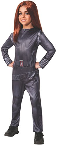 Rubies Captain America: The Winter Soldier Black Widow Costume, Child Small (Black Widow From Avengers Costume)