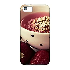 Excellent Design Sitting Down To Have Strawberry Tea Phone Case For Iphone 5c Premium Tpu Case