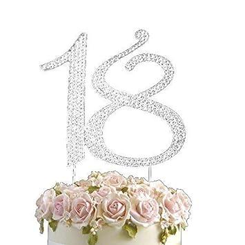 Tortenfiguren Strass Kristallstein Edelstein Kuchenaufsatz Geburtstage Jahrestag Nummern