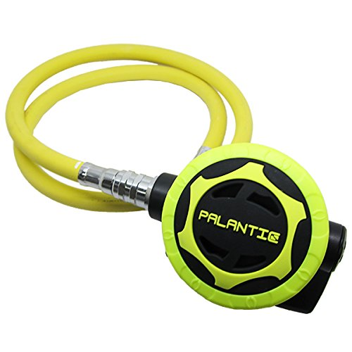 Scuba Choice Palantic AS206 Black/Yellow Second Stage Regulator Octopus with 36'' 350PSI Hose