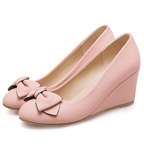 Compensees a Enfiler Femmes JOJONUNU Escarpins Pink qwRFHC