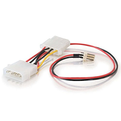 C2G/Cables to Go 27078 3-Pin Fan to 4-Pin Pass-Through Power Adapter Cable (6 Inch) (Connector Go Cables To)