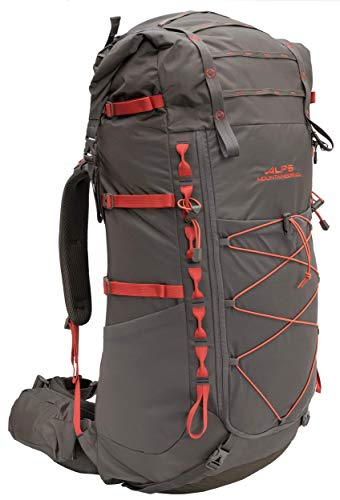 ALPS Mountaineering Nomad Internal Frame Backpack 65L-85L, Clay/Chili