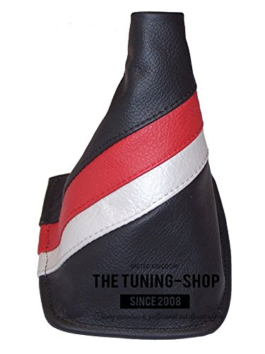 - The Tuning-Shop Ltd For Toyota Celica 1999-05 Gear Gaiter Black Italian Leather Trd Style Stripes