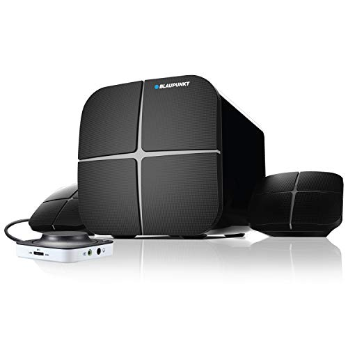 Blaupunkt SP212 Bluetooth Home Audio Multimedia 2.1 Speaker  Black