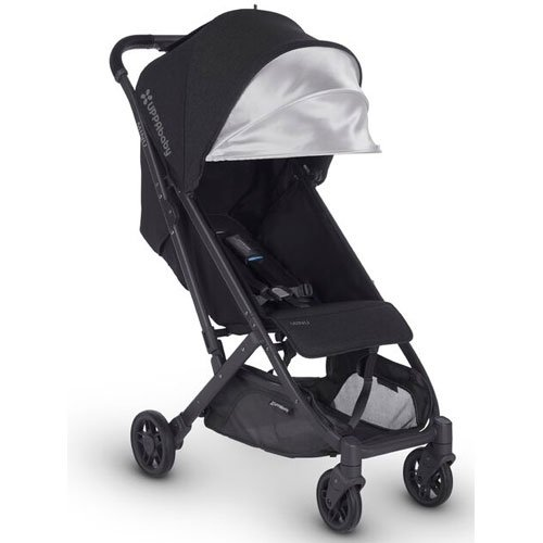 UPPAbaby MINU Stroller, Jake, Black Melange/Carbon/Black Leather (Car Seat 50 Sunshade Upf)