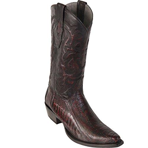 Black Cherry Ostrich Leg (Original Black Cherry Ostrich Leg Skin Snip-Toe Boot)