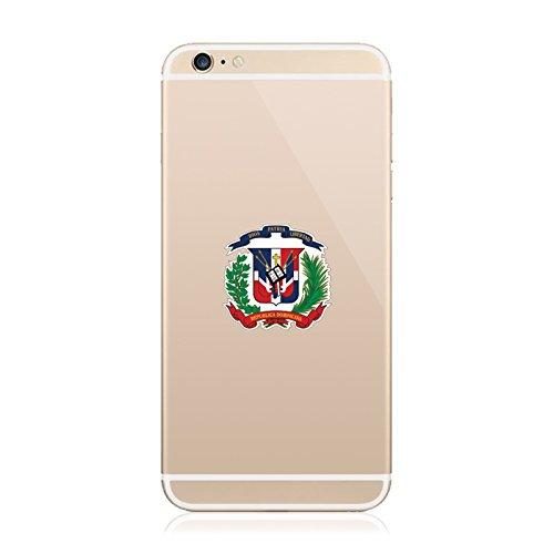 Dominican Coat Of Arms - 2X - Dominican Coat of Arms Cell Phone Sticker Die Cut Decal Self Adhesive FA Vinyl