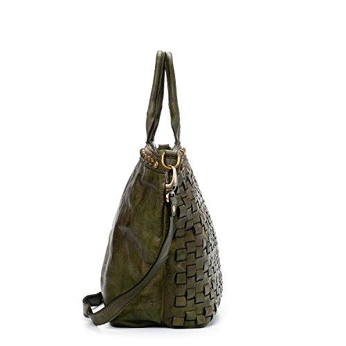 Ira Made Verde Piel In Vegas Vintage Para Mujer Valle Genuina Bolso Las Antiqued Italy Modelo Del rnxB6r
