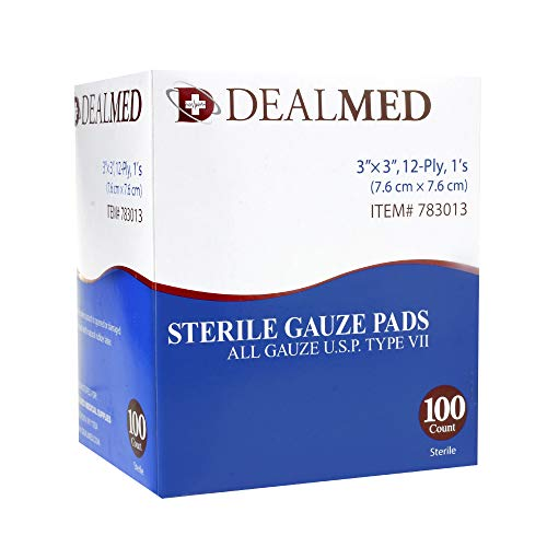 Dealmed Sterile Gauze Pads, Individually Wrapped Absorbent 3