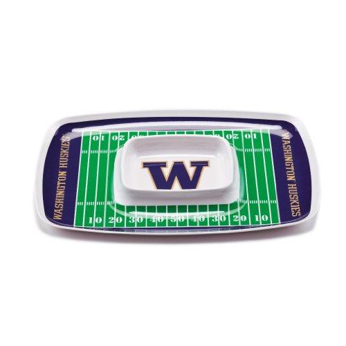 NCAA Washington Huskies Melamine Chip and Dip Tray