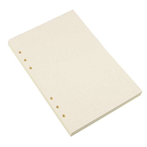 Hestya A5 6-Ring Binder Planner Refill Paper for Journals Notebooks Diaries Inserts, 8.35 by 5.59 Inches (200) by Hestya (Image #1)