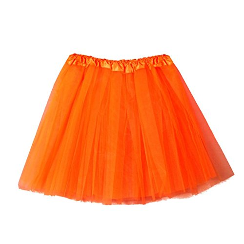 Gauze Dress High Solid mesh Womens Half Sale Skirt Adult Pleated TIFENNY Hot Waist Tutu Mesh Orange Dancing wXSZFPSxn