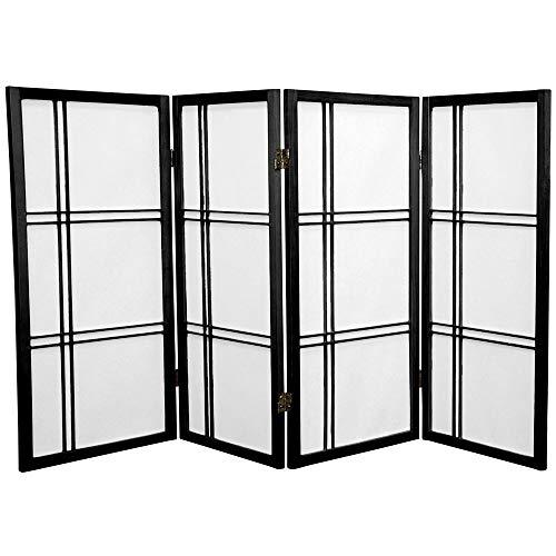 Oriental Furniture 3 ft Tall Double Cross Shoji Screen