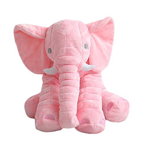 Price comparison product image MorisMos Elephant Stuffed Animal Toy Plush Gifts Toy for Kids Gift 24 inch (60x45x25cm) (Pink)