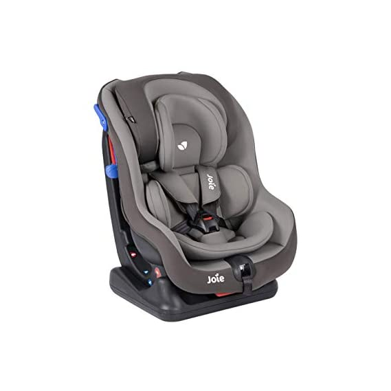 Joie Meet Steadi Car Seat Group 0+/1 Child seat Faces Rearward up to 18kg and Forward from 9-18kg -Dark Pewter