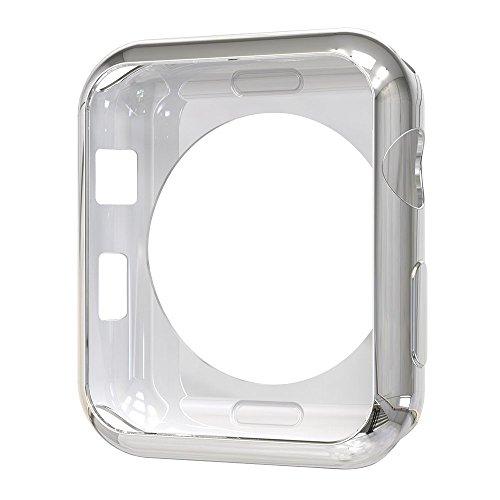 - Tech Express Chrome Bumper Case for Apple Watch [iWatch Cover] Ultra Slim Skin Rugged Flexible TPU Gel Case Anti Scratch Accessories Tough Metallic Open (Silver, 42mm)