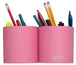 Five Star Magentic Pencil Cup, Split, Pink (72256)