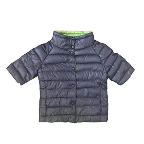 Basamento Lungo Cappotto Maglia Sottile Della Profondo Mid Inverno Del manicotto Blu Fit Collare 0tZ8fRvq