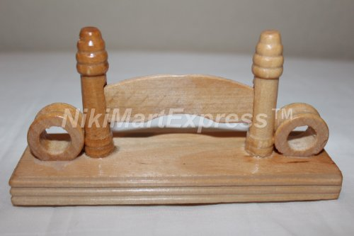 Fan Display Stand (Chinese Bamboo Wood/Silk/Paper/Lace Hand Folding Fan Stand Display Base Holder)