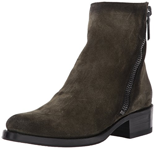 Suede Oiled Boots - FRYE Women's Demi Zip Bootie Boot, Forest Soft Oiled Suede, 9.5 M US