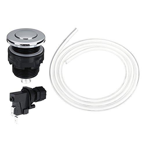 CoCocina 25V-250V Bath Switch Pneumatic Air Button Kit Garbage Waste Disposal Garbage Disposer Air Switch Kit - 34Mm