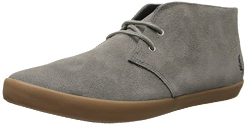 Fred Perry Men's Byron Mid Suede Fashion Sneaker, Mid Grey, 6.5 UK/7.5 M US