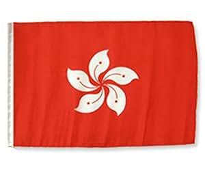 """Hong Kong 12""""x18"""" manga poliéster jardín banderas"""