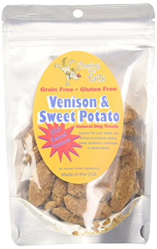 Chasing Our Tails Venison and Sweet Potato Grain Free All Natural Dog Treats with 35% Real Meat